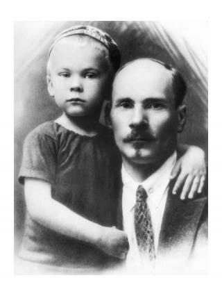 Якуб Колас з сынам